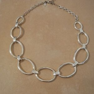 Premier Designs Silver Tone Oval Link Necklace